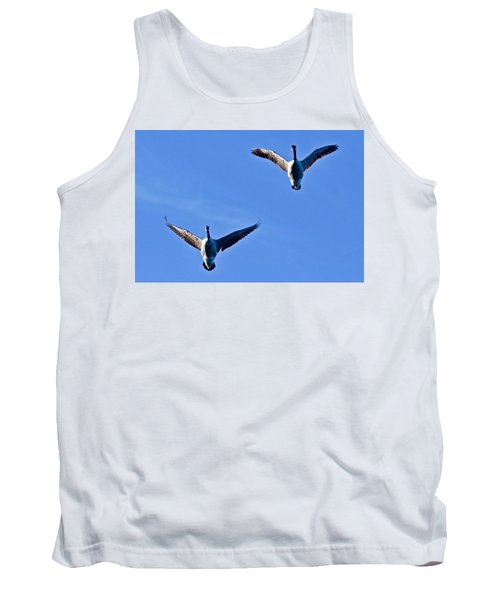 Tank Top featuring the photograph Canadian Geese 1644 by Michael Peychich