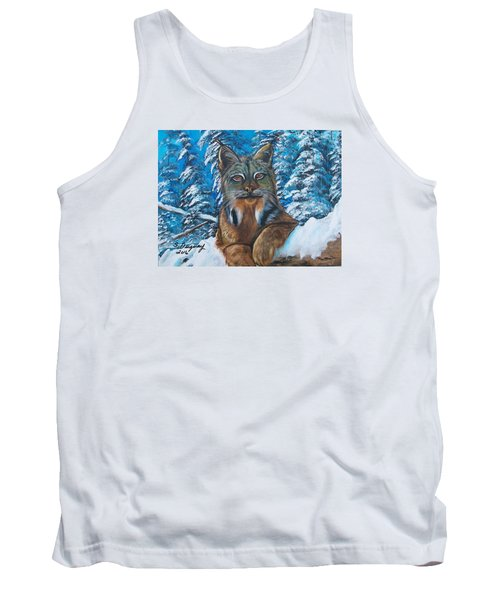 Tank Top featuring the painting Canadian Lynx by Sharon Duguay