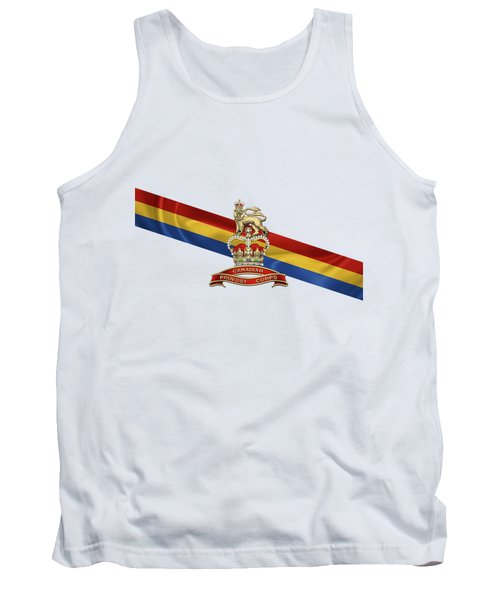 Canadian Provost Corps - C Pro C Badge Over Unit Colours Tank Top by Serge Averbukh