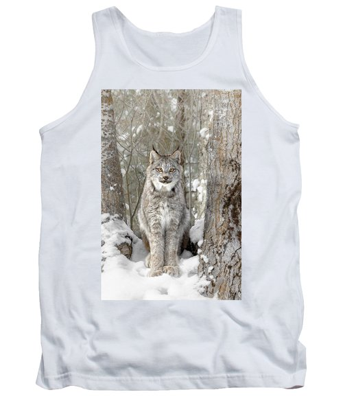 Canadian Wilderness Lynx Tank Top by Wes and Dotty Weber
