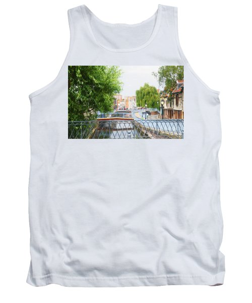 Tank Top featuring the photograph Canal View In Amiens by Therese Alcorn