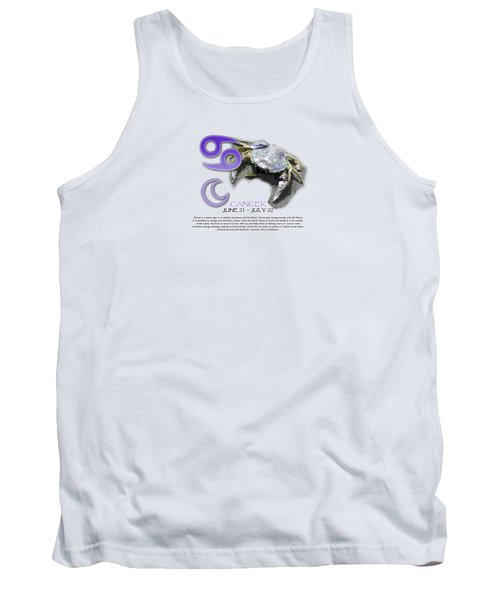 Cancer Sun Sign Tank Top by Shelley Overton