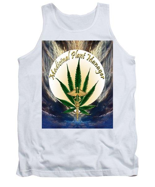 Cannabis Medicinal Plant Tank Top by Michele Avanti