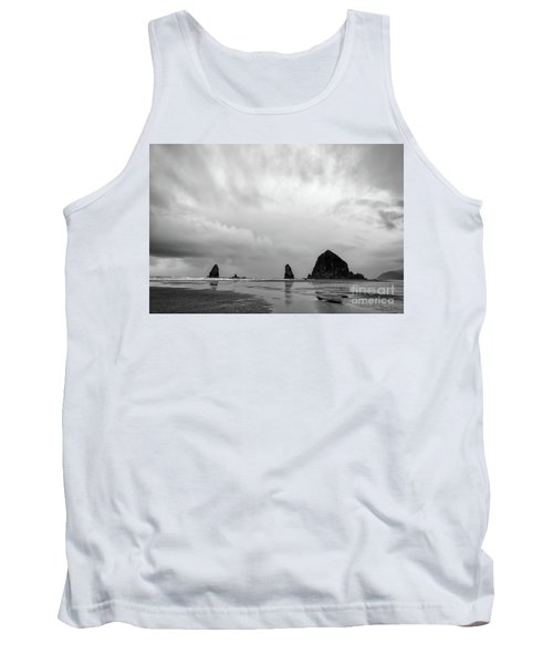 Cannon Beach In Black And White Tank Top