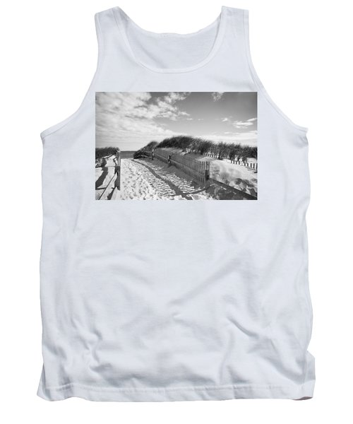 Cape Cod Beach Entry Tank Top by Mircea Costina Photography