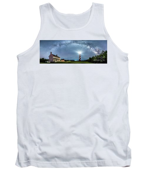 Cape Hatteras Light House Milky Way Panoramic Tank Top