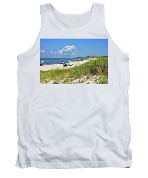 Cape Henlopen State Park - Beach Time Tank Top by Brendan Reals