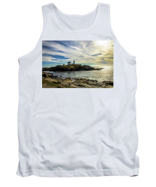 Cape Neddick Lighthouse Tank Top by Sherman Perry