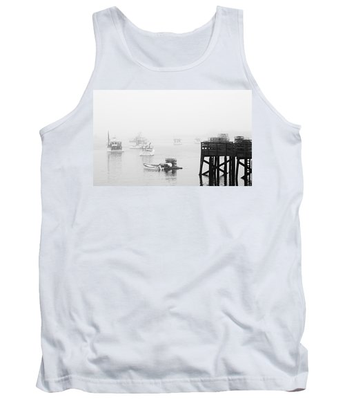Cape Porpoise Lobster Boats In Fog Tank Top