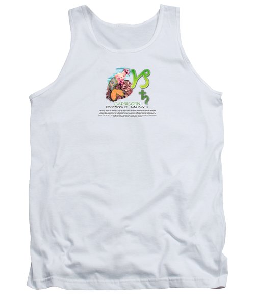 Capricorn Sun Sign Tank Top by Shelley Overton
