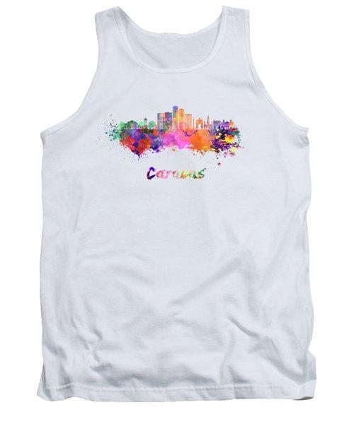 Caracas V2 Skyline In Watercolor Tank Top