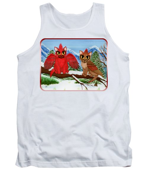 Cardinal Cats Tank Top by Carrie Hawks