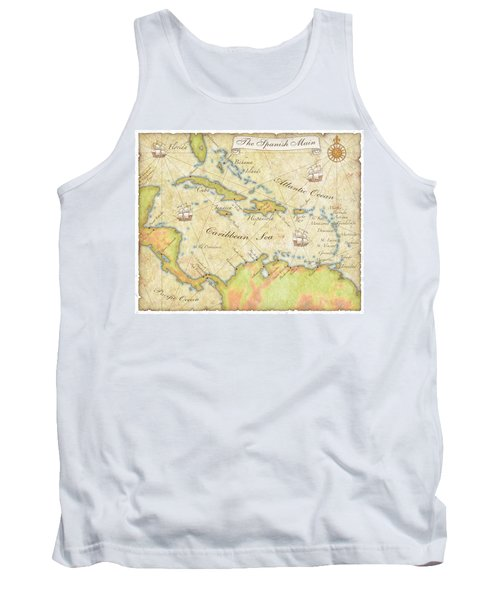 Caribbean Map - Good Tank Top by Sample