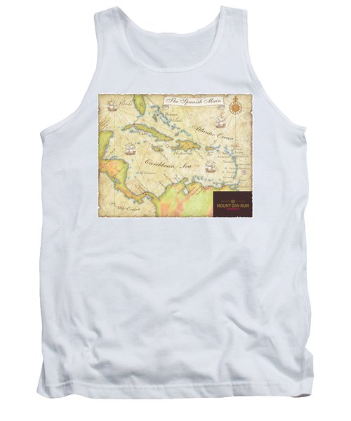Caribbean Map II Tank Top