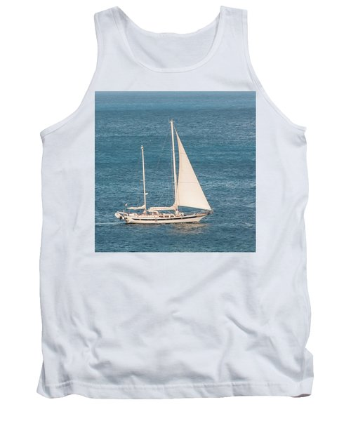 Tank Top featuring the photograph Caribbean Scooner by Gary Slawsky