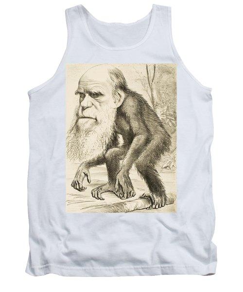 Caricature Of Charles Darwin Tank Top