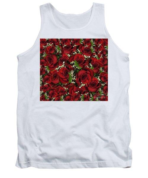 Carmine Roses Tank Top