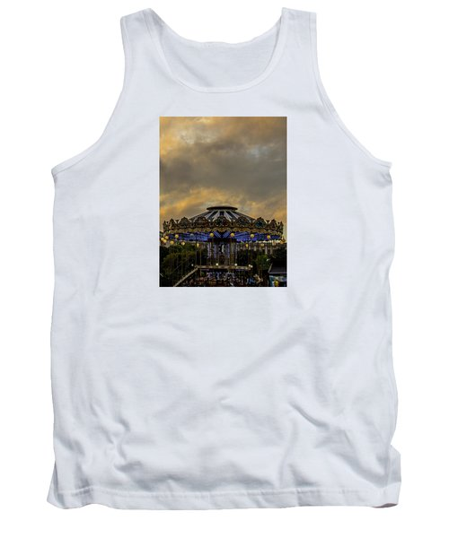 Carousel By The Eiffel Tower Tank Top by Jean Haynes