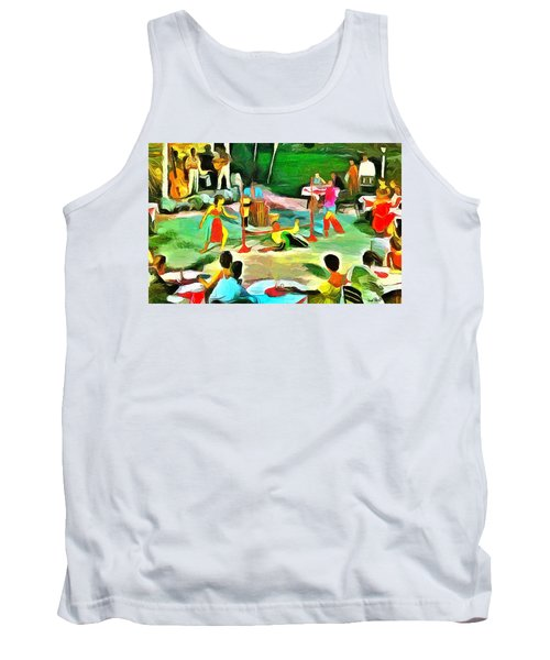 Carribean Scenes - Calypso And Limbo Tank Top by Wayne Pascall