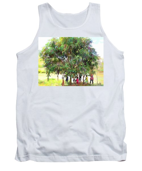 Carribean Scenes - Under De Mango Tree Tank Top by Wayne Pascall