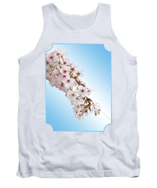 Cascading Cherry Blossom Tank Top