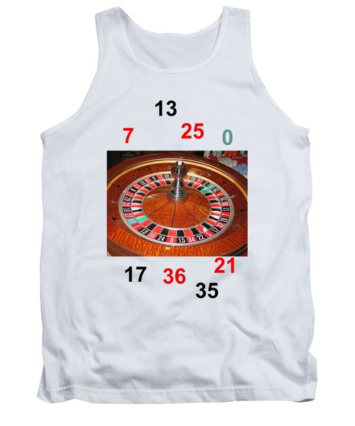 Casino Roulette Wheel Lucky Numbers Tank Top by Tom Conway