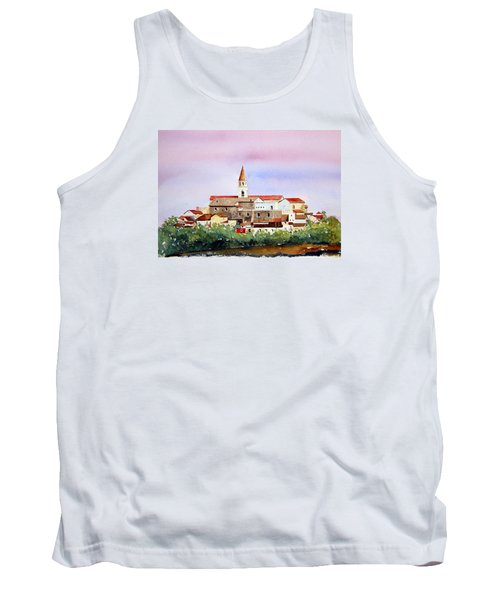 Tank Top featuring the painting Castelnuovo Della Daunia by William Renzulli