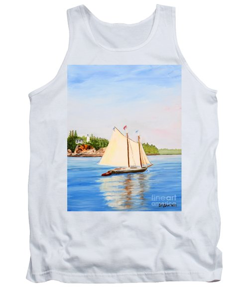 Castine Harbor And Dice Head Light Tank Top