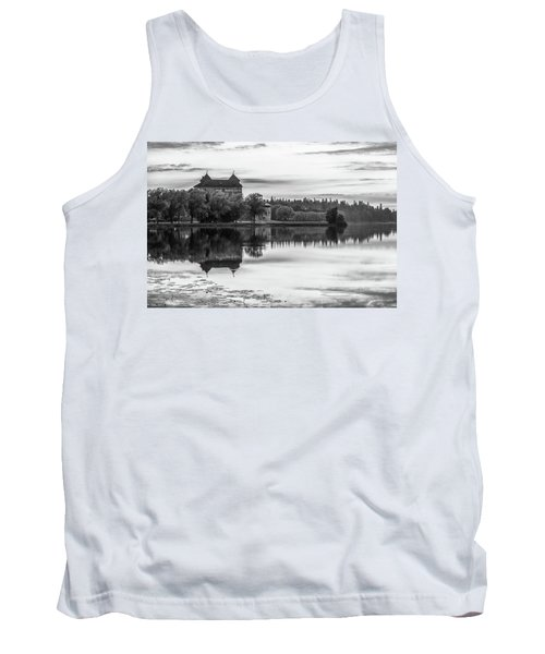 Castle In Black And White Tank Top
