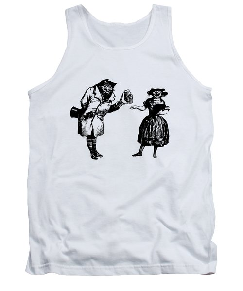 Cat And Mouse Grandville Transparent Background Tank Top