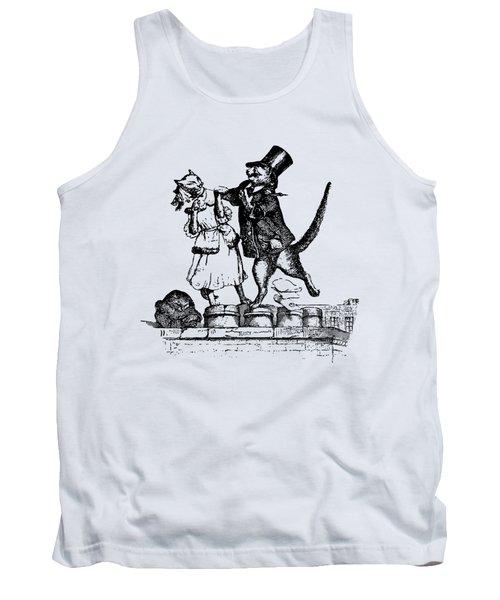 Cat Love Grandville Transparent Background Tank Top
