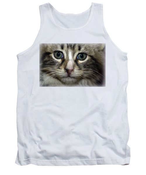 Cat T-shirt 1 Tank Top by Isam Awad