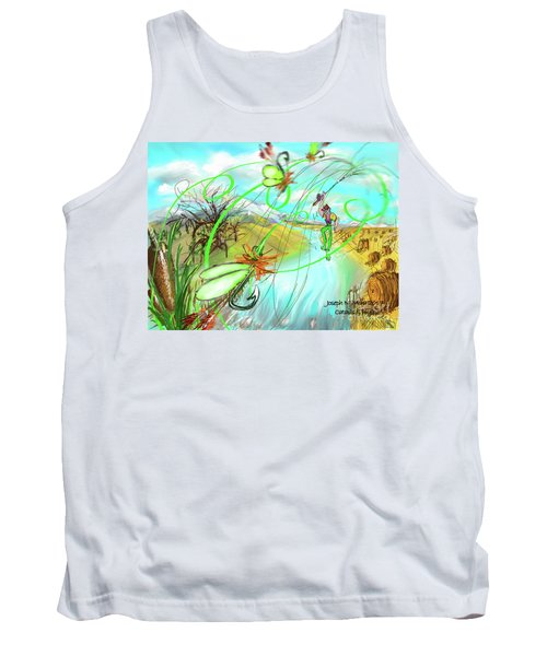 Catails And Flys Tank Top