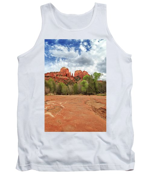 Tank Top featuring the photograph Cathedral Rock Sedona by James Eddy