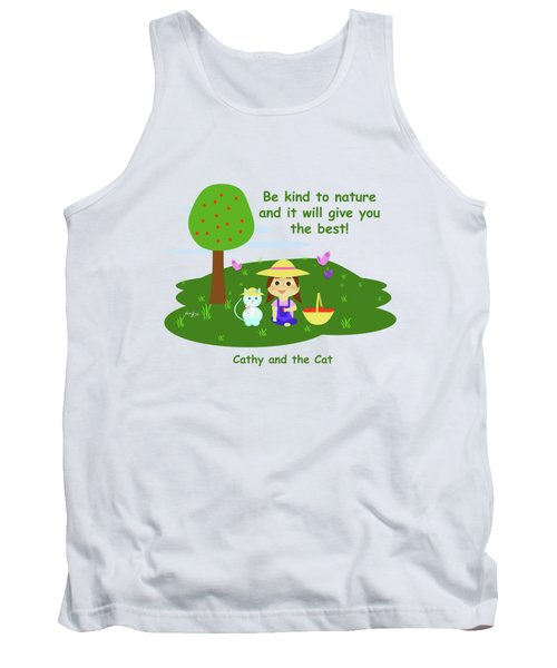 Cathy And The Cat Are Kind To Nature Tank Top