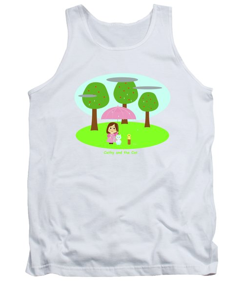 Cathy And The Cat Rainy Day Tank Top