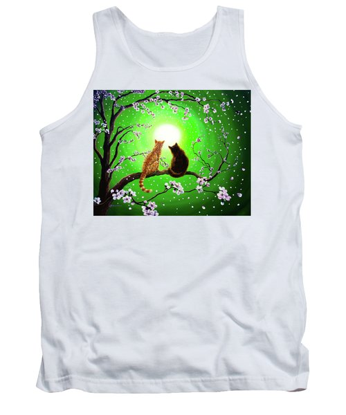 Cats On A Spring Night Tank Top by Laura Iverson