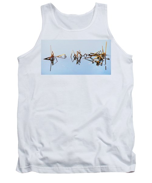 Cattail Reflections Tank Top by Francesa Miller