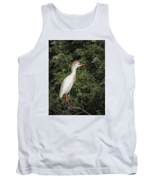 Tank Top featuring the photograph Cattle Egret by Tyson and Kathy Smith