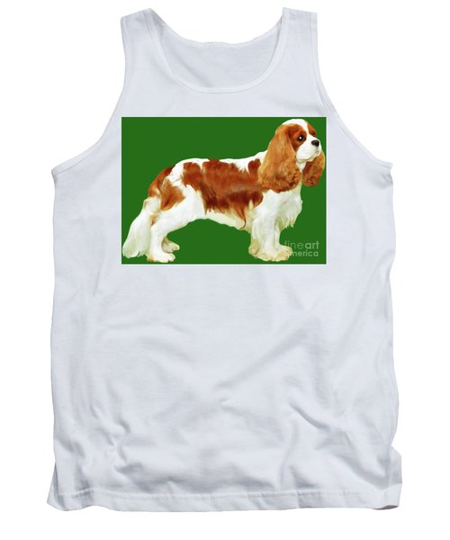 Tank Top featuring the painting Cavalier King Charles Spaniel by Marian Cates