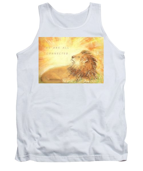 Tank Top featuring the drawing Cecil The Lion by Denise Fulmer