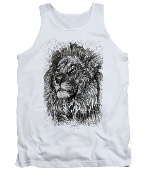 Cecil The Lion Tank Top by Michael Volpicelli