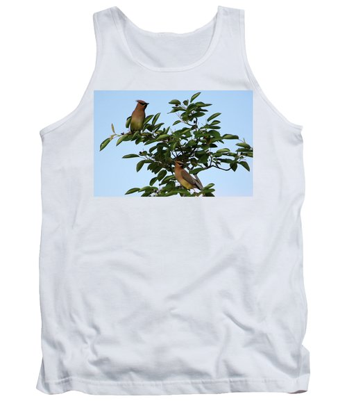 Cedar Waxwing Pair Tank Top