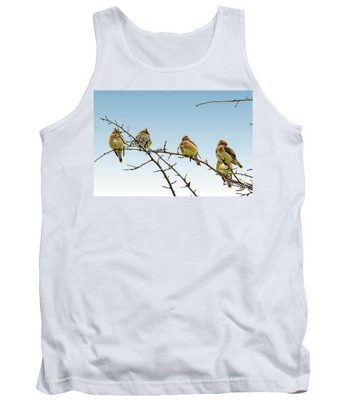 Cedar Waxwings Tank Top