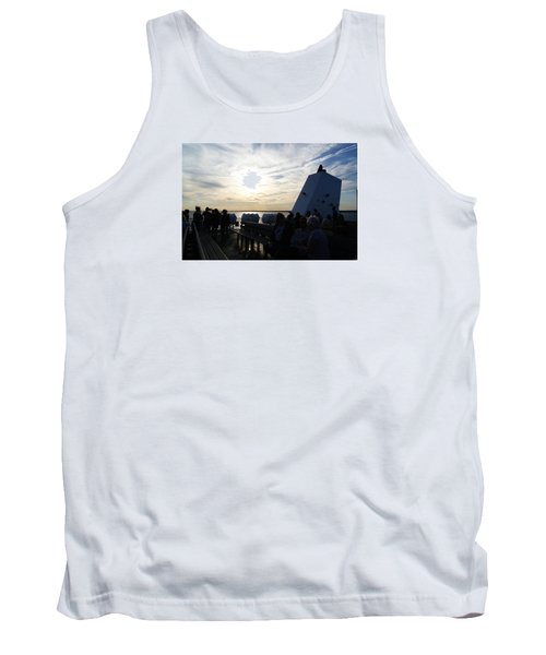 Tank Top featuring the photograph Celebrating The Sunset by Margie Avellino