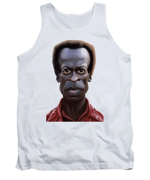 Tank Top featuring the drawing Celebrity Sunday - Miles Davies by Rob Snow