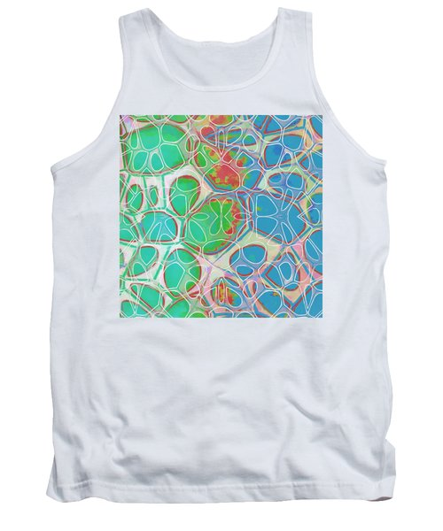 Cell Abstract 10 Tank Top by Edward Fielding