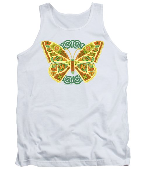 Tank Top featuring the mixed media Celtic Butterfly by Kristen Fox