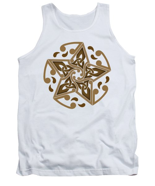 Tank Top featuring the mixed media Celtic Star by Kristen Fox