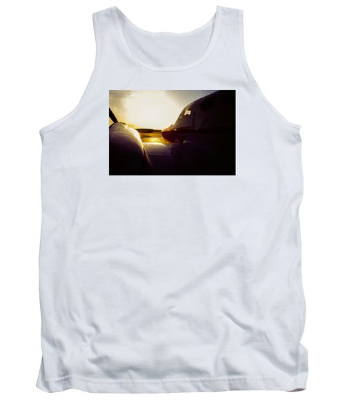 Cessna 421c Golden Eagle IIi Silhouette Tank Top by Greg Reed